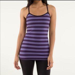 Lululemon purple striped racerback tank top